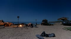 Kimberley Beach Camp Time Lapse Stock Footage