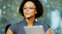 Close Up Female African American Marketing Executive - stock footage