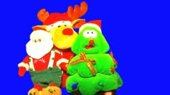 SANTA CLAUS reindeer and christmas tree toys FULL Stock Footage