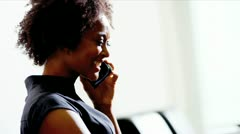 Female talking on smart phone  Stock Footage