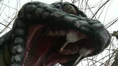 Dragon Snake Monument Stock Footage
