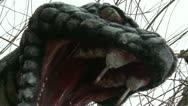 Stock Video Footage of Dragon Snake Monument