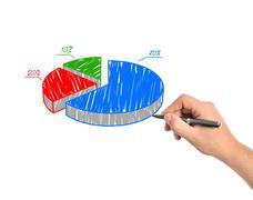 drawing graph - stock photo