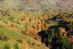 The highest mountain village in the romanian carpathians Stock Photos