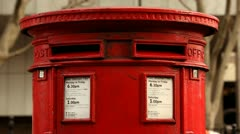 London Post Box Stock Footage