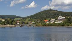 schluchsee in sunny ambiance - stock photo