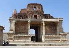 Stock Photo of krishna temple at hemakuta hill