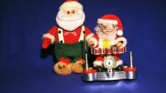 SANTA CLAUS four various toys Stock Footage