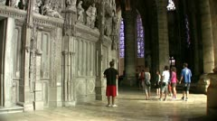 Chartres cathedral interior Stock Footage