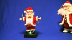 SANTA CLAUS juggler and walking toys Stock Footage