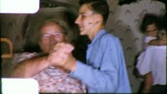 Family DANCE PARTY People DANCING 1950s (Vintage Retro Film Home Movie) 6187 Stock Footage