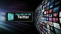 Twitter Invite 2 Stock Footage
