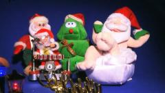 SANTA CLAUS and christmas tree five toys Stock Footage