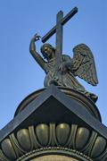 angel sculpture - stock photo