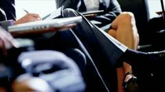 Airport Passengers Using Smart Phones Waiting Travel Stock Footage