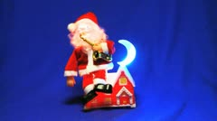 SANTA CLAUS sax player toy Stock Footage