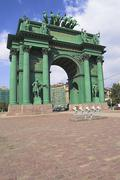 Narva triumphal arch Stock Photos