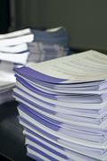handout papers - stock photo