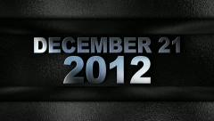 December 2012 text in wall silver 1280x720 Stock Footage