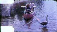 Stock Video Footage of WOMEN CANOE Canoeing Paddle Boat 1950s Vintage 8mm Film Home Movie 6171