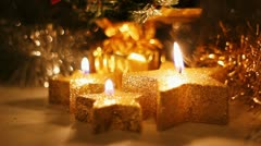Christmas candles, Full HD Stock Footage