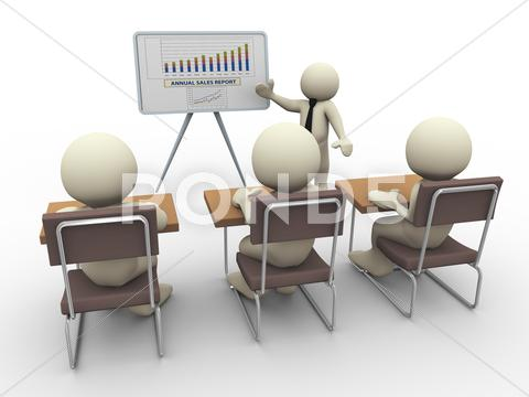 Stock Illustration of 3d business presentation