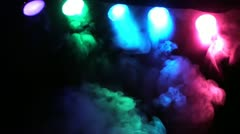 SMOKE AND CONCERT STAGE LIGHTS 2 Stock Footage