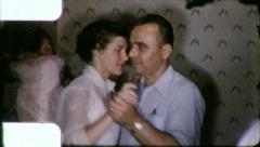Family DANCE PARTY People DANCING 1950s (Vintage Retro Film Home Movie) 6184 Stock Footage