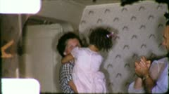 Family DANCE PARTY People DANCING 1950s (Vintage Retro Film Home Movie) 6185 - stock footage
