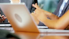 Female Business Executive Chairing Boardroom Meeting Stock Footage