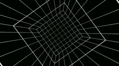 Rotating cube grid Stock Footage