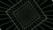 Stock Video Footage of rotating cube grid