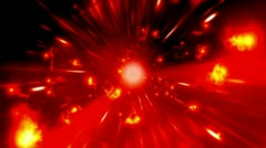 Flares Red Cosmic Looping Backdrop Stock Footage