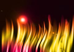 colorful aura light abstract on black background - stock illustration