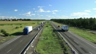 Stock Video Footage of Highway - blue sky