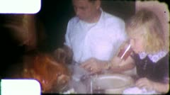 THANKSGIVING CHRISTMAS Dinner Family Meal 1960s (Vintage Film Home Movie) 6189 - stock footage