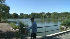 Fishing lake (1 of 3) Stock Footage