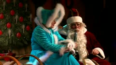 Santa Claus on German Christmas Market in Rostock - Baltic Sea, Germany Stock Footage