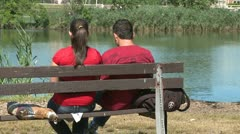 Couple enjoying the water (3 of 4) Stock Footage