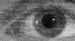 TV Static Eye Watching you - stock footage