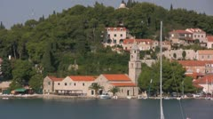 Cavtat Franciscan Monastery Stock Footage