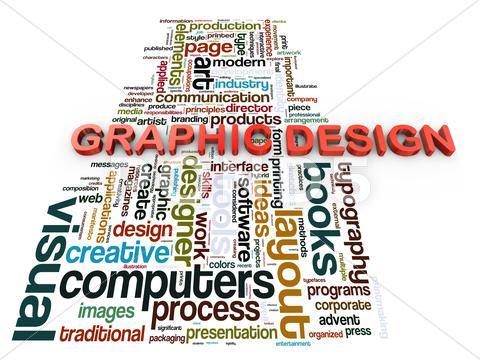 Stock Illustration of 3d graphic design
