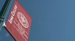 College sign (2 of 4) Stock Footage