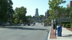 Tall town building (1 of 2) - stock footage