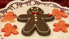 10800 german confectioner dolly around gingerbread man 10800 Stock Footage