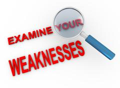 Examine your weaknesses Stock Illustration