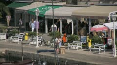 Cavtat promenade view zoom out Stock Footage