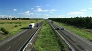 Stock Video Footage of Highway - blue sky - time lapse