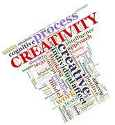 Creativity wordcloud Stock Illustration