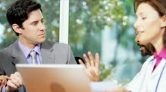 Meeting of Medical Executives and Financial Advisor Stock Footage